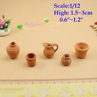 terra cotta pots - 1 scale Dollhouse Miniatures Terra Cotta Vase Pots Vintage Jugs Toys Pottery pots