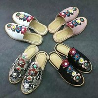 name brand shoes - Summer top brand name women lady beach sandal shoes footwear fandi casual style designer drop shipping