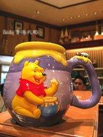 bear mugs - Genuine Hong Kong Disneyland Winnie the Pooh Honey jar Mug for coffee milk Cartoon Bear ceramic cup gift for Student Children