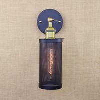art deco vanity - Retro black vintage metal wall lamp led e27 lights for workroom Bedroom bar Vanity Lights porch light art deco stair night light