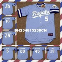 Wholesale Retro GEORGE BRETT BO JACKSON DAN QUISENBERRY jersey STEVE BALBONI FRANK WHITE jersey Throwback DAVID CONE Mens Stitched jerseys