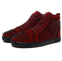 Wholesale 2017 new style spike shoes for men Red Bottoms brand shoes