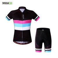 Wholesale WOSAWE Summer Women Cycling MTB Short Sleeves Jersey Bike Bicycle Sets Shirts Padded Cycling Short Wear Uniforms Sport Jersey