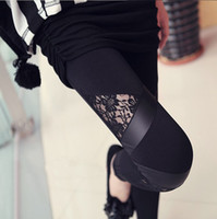 active install - 2014090604 Punk Mid Freeshipping Velour New Hot Selling Fashion Women Leggings Sister Han Edition Installs A of Pants Stripe Splicing