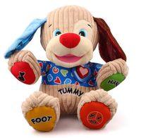 Wholesale new Chinese English Version Musical Dog Doll Multifunctional Singing Speaking Baby infant Educational Stuffed Plush Toys