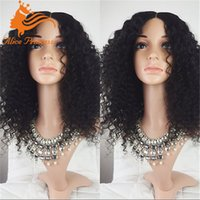 Wholesale Afro Kinky Curly Wig Glueless Full Lace Human Hair Wigs A Short Bob Human Hair Wigs Brazilian Lace Front Wig