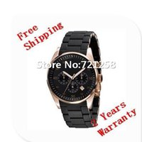 battery box - free hk shipping _Absolute luxury New Mens Black and Gold Chronograph Watch AR5905 CHRONOGRAPH WRIST WATCH original box