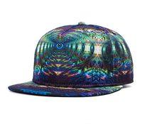 Cheap 3D Visual Printed Flat Brim Dancer Snapback Hats Hip Hop Hats Fasion Sport Baseball Hats UV Protect With DHL Free