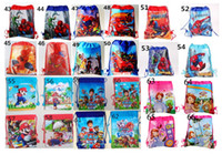 Wholesale Kids Drawstring Backpacks Children Cartoon School Bags Cheap Non Woven Shopping Bag Travel Lunch Bag For Girls Boys Different Pattern