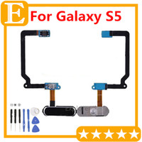Wholesale 5pcs For Samsung Galaxy S5 Mini G800 VS S5 G900H G900F G900T G900M Return Back Home Button Menu Flex Cable Replacement Parts