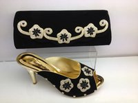 best italian shoes - Cherry Lady Best Quality Italian Shoes High Quality African Party Shoe And Bag Set In Black With Shining Stones