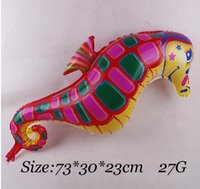 aluminium foil suppliers - Pet Seahorse Foil Balloon Birthday Party Decoration Supplier Cute Toy For Kids On Children s Day Hot Sale