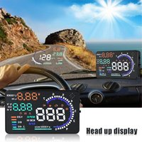 Wholesale 5 Inch Large Screen Car HUD Head Up Display with OBD2 Interface Plug Play A8 Car HUD Display CAL_400