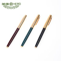 Wholesale Genuine original Hero fountain pen High quality commercial office Ink pens standard nib type mm black red green