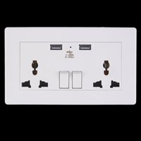Wholesale Quality New Dual USB Port Electric Wall Charger Dock Socket Power Outlet Panel Plate