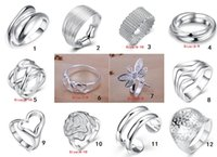 band order - R1 Hot Selling High Quality silver jewelry Ring Charming Women girls rings Multi Styles Rings Mix size mix order