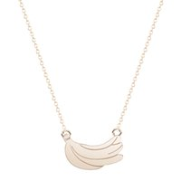 banana necklace - 10pcs Dainty Charm BFF Summer Jewelry Gold Silver Bananas Necklace Pendants For Friends Women Wedding Gift