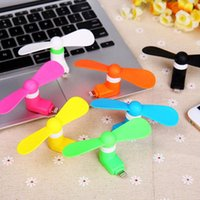 Wholesale Hot Sale Mini Portable USB Fan Flexible Micro USB Mobile Phone Super Mute Cooler Cooling for Iphone6 Plus and Android MT