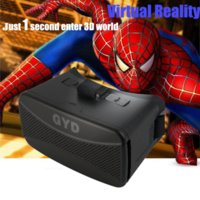 Wholesale GYD VR Virtual Reality D Google Glasses Cardboard D Video Movie Game Glasses for Ios Android Inch Smartphones for Myopia