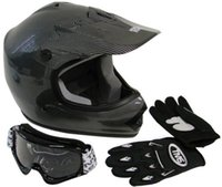 Wholesale Youth Motocross Dirt Bike Helmet with Goggles Gloves Combo S M L