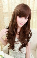 average fashion model - South Korea fashion long curly hair wig new Europe and the United States wig set of true person model to film