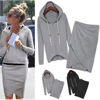 Wholesale 2016 New Fashion Women Sport Suits Leisure Sweatshirts Spring Autumn Casual Tracksuit Top And Skirt Pieces SH01