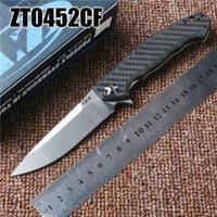 zero - 2016 NEWER ZT Zero Tolerance CF carbon fibre TC4 S35VN D2 titanium alloy High Quality ZT Folding Knife freeshipping