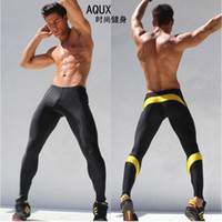 Wholesale Hot sales Men s Long Sexy Tight Pants Ankle Length Trousers Casual Elastic Slim Fitted Sweatpants Skinny Crossfit Pro Workout Pants