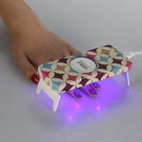 Wholesale Mini LED UV Lamp Manicure Foldaway Personal W Nail Dryer Gel Curing LED Light Timer s s s With USB Lin