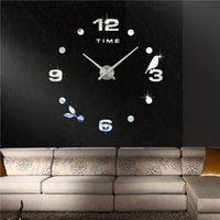 Wholesale Factory Online Direct Sell Modern Design Fashion Black Art Deco Wall Clock for Bathroom Bed Bath Beyond Apartment M006