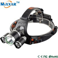 Wholesale ZK30 Cree XM L T6 LM LED Headlamp Headlight Mode Head Lamp LED Flashlights Light For Bicycle Bike Light Outdoor Sport Biking Climbing