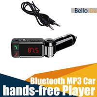 Wholesale Car MP3 Audio Player Bluetooth FM Transmitter Wireless FM Modulator Car Kit HandsFree LCD Display USB Charger for iPhone Samsung MP4 IPAD