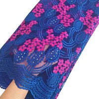 Wholesale 2016 Latest Swiss Voile Lace For Wedding African Lace Fabric High Quality Royal blue Pink French Lace Fabric For New Fashion
