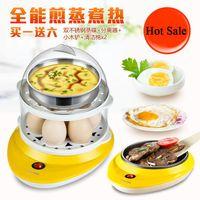 Wholesale New Cute Electric Chicken Holes Egg Kitchen Cooker Boiler Steamer Yellow Europe Plug Egg boiler egg poacher