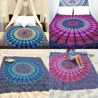 beach towel mat - 2016 Large Indian Mandala Tapestry Wall Hanging Throw floral Towel Beach Yoga Mat Decor Boho mixed colors