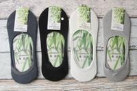 ankle bamboo socks - Summer Cotton Bamboo fiber Socks Low Socks Cotton Seamless Invisible Socks Sock Slippers For Men