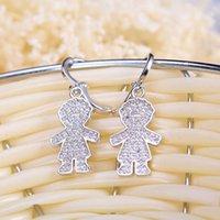 Cubic Zirconia animal alphabet - 2016 mm Fashion Lady Brand New Silver Stud Earrings Split Evening Dresses Accessories crystal Earrings Hot Sales oscar 9
