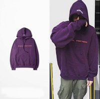Wholesale 2017 hiphop Vetements sweatwear men women brand clothing kanye west justin bieberoversize hoodie thrasher twisted reversible top