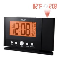 atomic projection clocks - Digital LCD Atomic Projection Alarm Clock Indoor Temperature Calendar Display with Orange Backlight