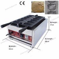 Wholesale Stainless Steel Commercial V V Electric Mini Cartoon Animal Shaped Waffle Iron Maker Machine