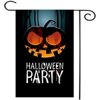 Wholesale Scary Pumpkin Halloween decor Party Bar Garden Flag Indoor Flags Custom Garden Flag Home Banner Flag Home Decoration