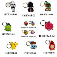 Wholesale New Star wars mickey Pocket Poke Lego Movie Novelty Cartoon Keyring Keychains Kawaii Keyfob soft PVC key chains Cartoon Character Key Chain