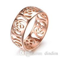 band wanted - Korean jewelry manufacturers want you rose gold ring ring width version of the hollow roses