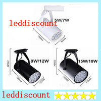 Wholesale DHL shipping Black White LED track light W W W W W lighting Natural Cool Warm White Led Ceiling Wall Spot Lights V V