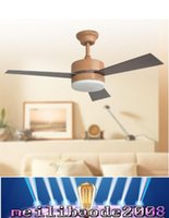 abs nickel - European ceiling fans lights led inches cm teak color three blade ABS fans remote control indoor led ceiling fan V V MYY