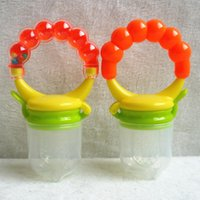 Wholesale New Baby Cute Food Nipple Feeder Silicone pacifier Fruits Meat Feeding Tool Supplies With Bell SZ16 N01