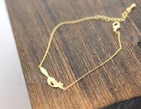 Pulseras del encanto 10pcs / lot de oro / plata Tiny Fox Tail Operando pulseras Fox Vivid accesorio Fox para las mujeres B16