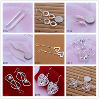 alphabet factory - Factory direct sale pairs diffrent style women s silver earring GTE19 fashion sterling silver Dangle Chandelier earrings
