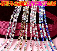 Wholesale DIY phone cases diamonds clothing accessories crystal chains accessories welding electroplate allowed necklace dress shoes DIY