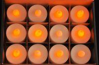 amber votive - Wedding Centerpiece Decoration CR2032 Battery Operted Amber Color LED Votive Candle Tea light